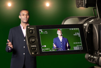Presenter in the Viewfinder of a Digital Video Camera