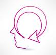 Thinking icon. Design logo.