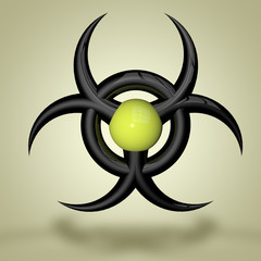 virus danger logo