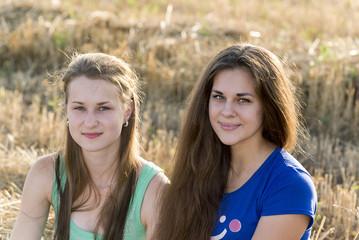Two teen girl outdoors