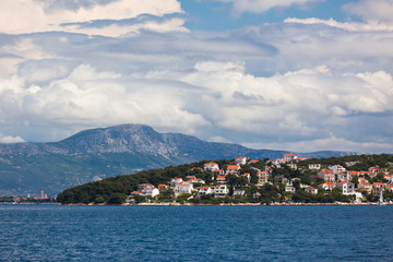 Ciovo island, Trogir area, Croatia view from the sea.