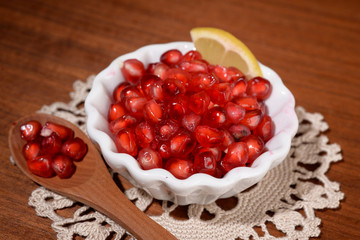 juice and pomegranate seed