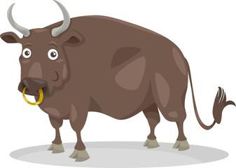 bull farm animal cartoon illustration