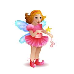 Illustration of funny fairy