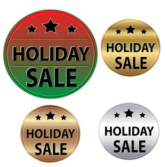 Holiday Sale Stickers with Different Backgrounds