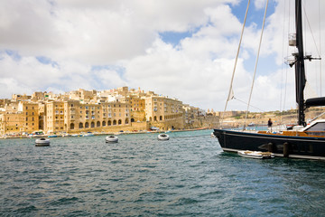Senglea seen from Vittoriosa, Malta
