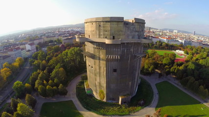 Flak tower in Vienna, Luftwaffe defense during World War II