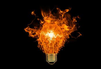 a fiery symbol