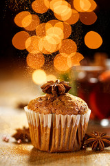 Christmas cinnamon muffin