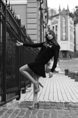Young beautiful girl. Street fashion.