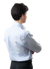 back view of confident businessman