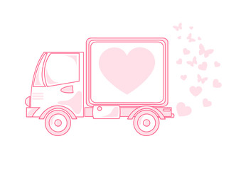 Car with hearts