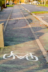 Cycle lane symbol
