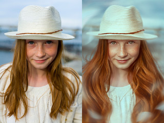 digital retouch. before and after