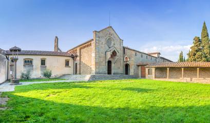 monastery of San Francesco on Fiesole hill in Firenze, Italy