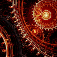 Red steampunk background