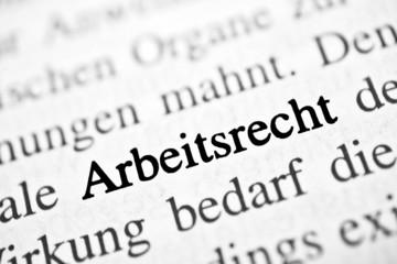 Arbeitsrecht - schwarz-weiß Text