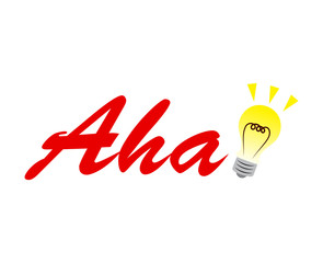 Aha moment with a light bulb illustration