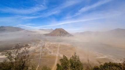 Daylight Sand Storm time lapse in a valley