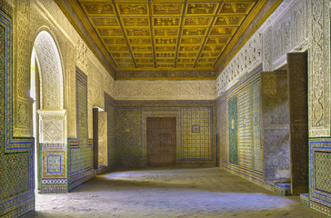 Seville - The one of halls of Casa de Pilatos.