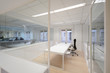 Modern office with white furniture - 73307822