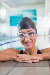 Female swimmer in the pool at leisure center