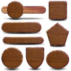 8 plaques en bois rustique