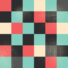 Abstract pixel art style vector background
