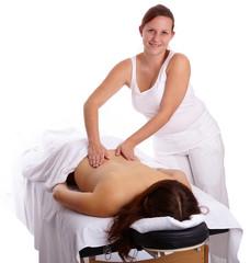Frau bei klassischer Massage