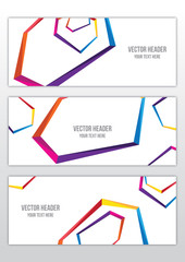 abstract color frame vector header