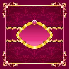 Royal template frame design for greeting card