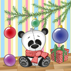 Panda under the tree