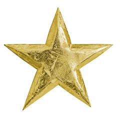 golden metal christmas star
