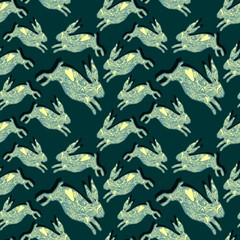 fashion textile pattern rabbit