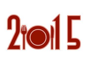 Anno nuovo 2015 con sagoma food