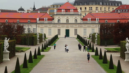 Royal Palace Belvedere in Vienna, tourism place site seeing