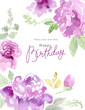 Watercolor flowers card