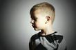 Fashionable child.fashion kids.children.little boy.profile