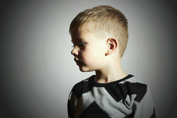 Fashionable child.fashion kids.children.little boy.profile