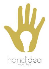 Hand idea logo