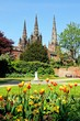 Lichfield Cathedral and tulips © Arena Photo UK - 73310650