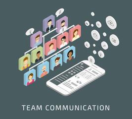 Team communication via smartphone app