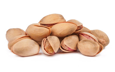 handful of pistachios isolated