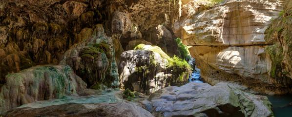 Grotto with stalactites