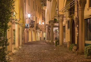 Padua - The street of gheto at night.