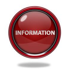 information circular icon on white background