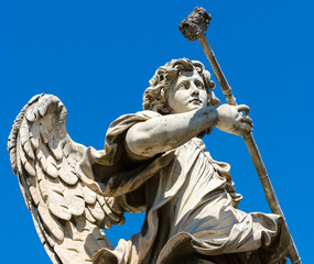 Angel statue on the Ponte Sant`Angelo in Rome