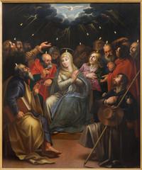 Mechelene - The paint og Pentecost scene in Janskerk