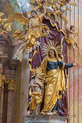 Vienna - baroque statue of st. Ann in st. Annes church.