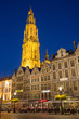 Antwerp - Towers of cathedral and Grote Markt square